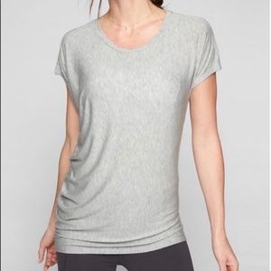 ATHLETA Threadlight Asymetrical Grey Top